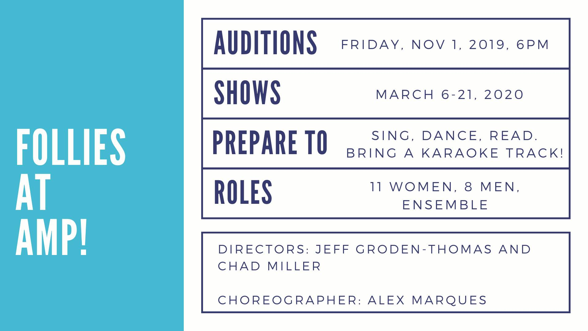 Follies Auditions