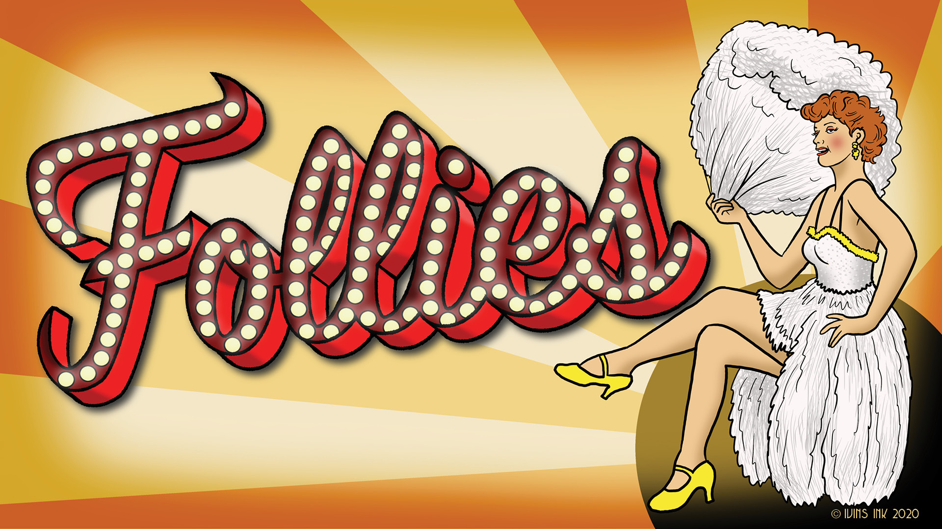 Follies logo designed by Ivins Ink
