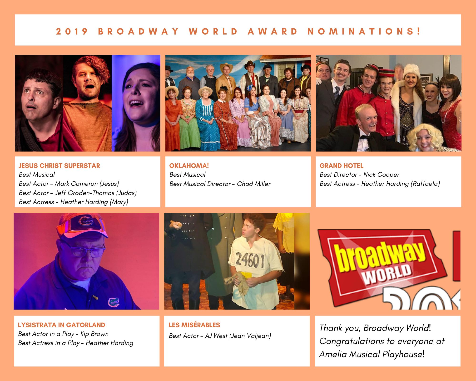 11 Broadway World Nominations