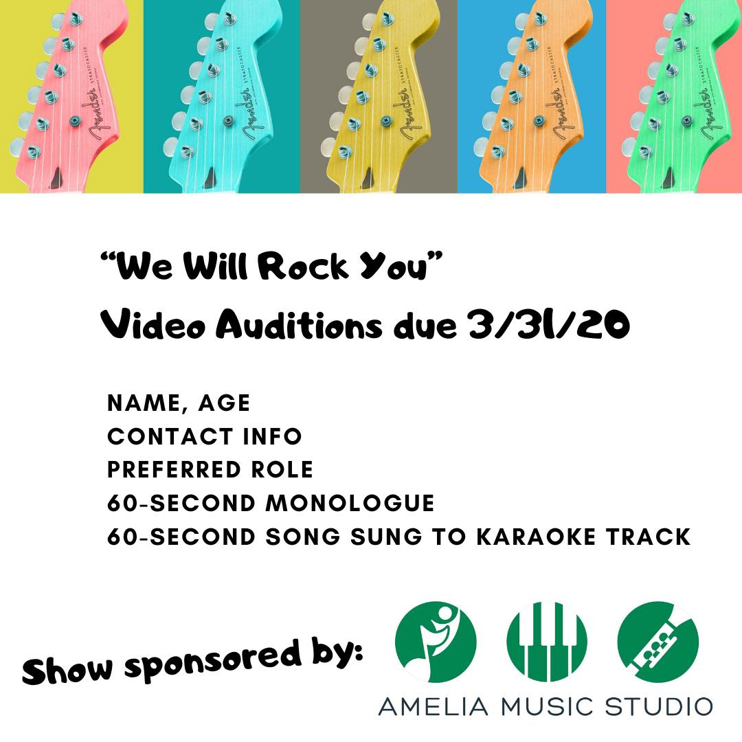 WE WILL ROCK YOU Auditions
